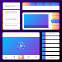Icone di prototipi e icone wireframe di interfaccia web essenziale vettore