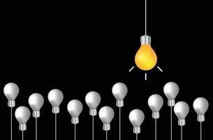 ispirazione del concetto di lampadina vettore