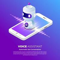 concetto di tecnologia vocale vettore