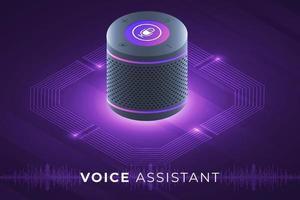 assistente vocale internet delle cose vettore
