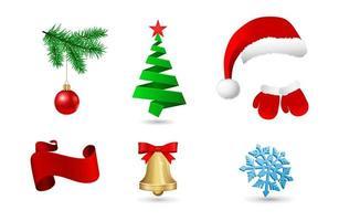 icona del concetto di Natale vettore
