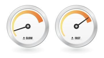 scarica il misuratore di velocità di Internet vettore