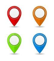 set di icone 3d marcatore posizione mappa pin vettore