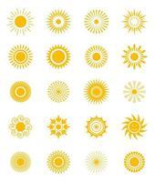 set di icone del sole vettore