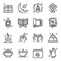 il mese sacro del ramadan vettore