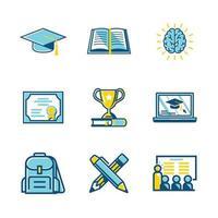 raccolta di icone di laurea vettore