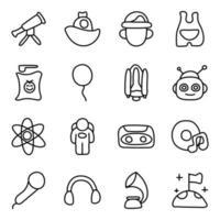 vettori di spazio, tecnologia e accessori per bambini
