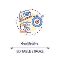 icona del concetto di definizione degli obiettivi vettore