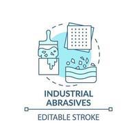 icona del concetto di abrasivi industriali. vettore