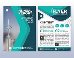 Progettazione di layout flyer aziendali multiuso. Adatto a vettore