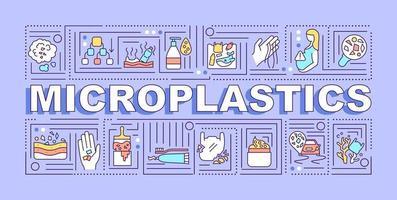 banner di concetti di parola microplastiche vettore