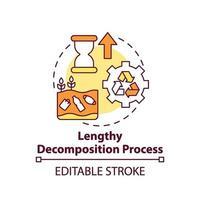 icona di concetto di processo di decomposizione lungo vettore