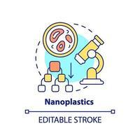 icona del concetto di nanoplastica vettore