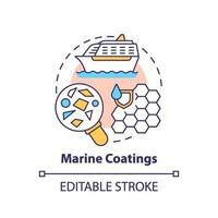 icona del concetto di rivestimenti marini. vettore