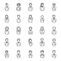 varietà di avatar umani vettore