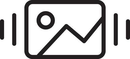 icona della linea per la galleria vettore