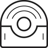 icona della linea per il disco vettore