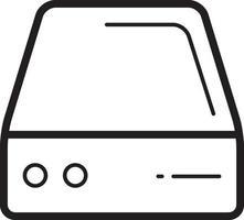 icona della linea per hard vettore