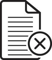 icona della linea per annullare vettore