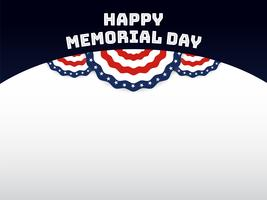 Felice sfondo Memorial Day. Banner bandiera USA con spazio di copia vettore