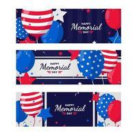 modello di banner felice memorial day vettore