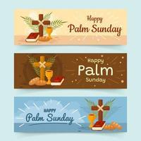 striscioni della domenica delle palme vettore