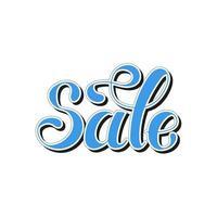 parola scritta. vendita. disegnato a mano. illustrazione vettoriale. elemento di design. vettore