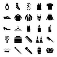 accessori moda per donna e uomo vettore