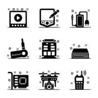 hardware tecnologico per computer vettore