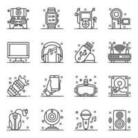 hardware e dispositivi tecnologici per computer vettore