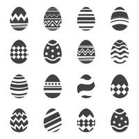 icona di uova di Pasqua sfondo isolato. set di design nuovo e moderno con modelli diversi. vettore