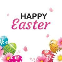 modello di sfondo cartolina d'auguri felice uovo di Pasqua. può essere utilizzato per invito, pubblicità, carta da parati, volantini, poster, brochure. vettore