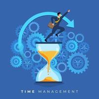 gestione del tempo negli affari vettore