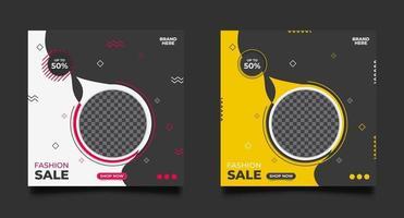 set di modelli promozionali di vendita di moda vettore