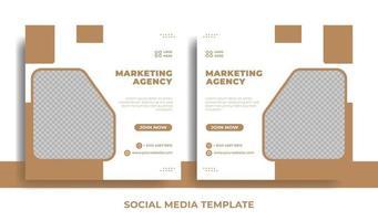 volantino o tema aziendale modello di social media vettore