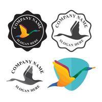 design del logo del cigno vettore