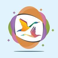 disegno dell'icona del cigno vettore
