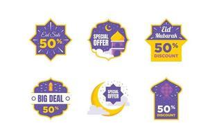 etichetta di strumenti di marketing eid vettore