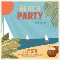 poster festa in spiaggia vettore
