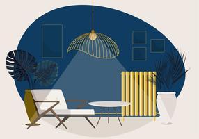illustrazione di salotto vettoriale