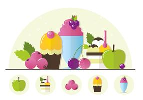 Illustrazione di gelato alla frutta di vettore