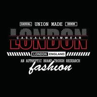 design t-shirt tipografia denim di londra