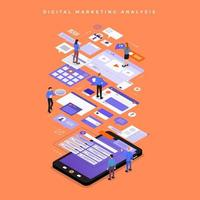 analisi di marketing digitale vettore