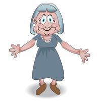 personaggio dei cartoni animati della nonna vettore