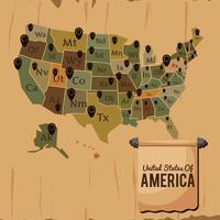 Vettore di mappa degli Stati Uniti