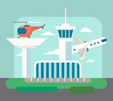 Illustrazione dell'aeroporto vettore