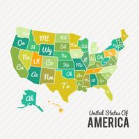 Mappa degli Stati Uniti d'America vettore