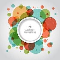 cerchi colorati moderni astratti che si sovrappongono composizione su sfondo bianco. vettore