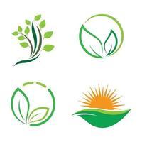 insieme dell'illustrazione di immagini di logo di ecologia vettore