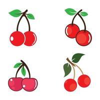 set di immagini del logo ciliegia vettore